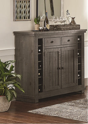 Progressive Furniture D801-56 Willow Casual Server Distressed Dark Gray