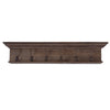 Wall Hooks - Nova Solo D911TK Hygge Six - Hook coat rack Reclaimed dark stain + teak shield | 8994921002248 | Only $189.00. Buy today at http://www.contemporaryfurniturewarehouse.com
