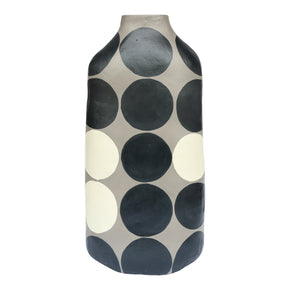 Moe's Home Collection DD-1019-15 Polka Dot Vase Tall Grey