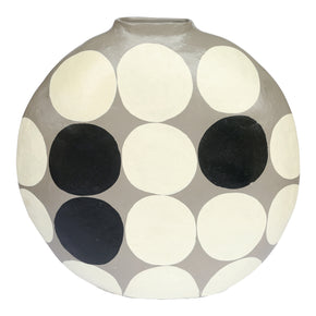Moe's Home Collection DD-1020-15 Polka Dot Vase Round Grey