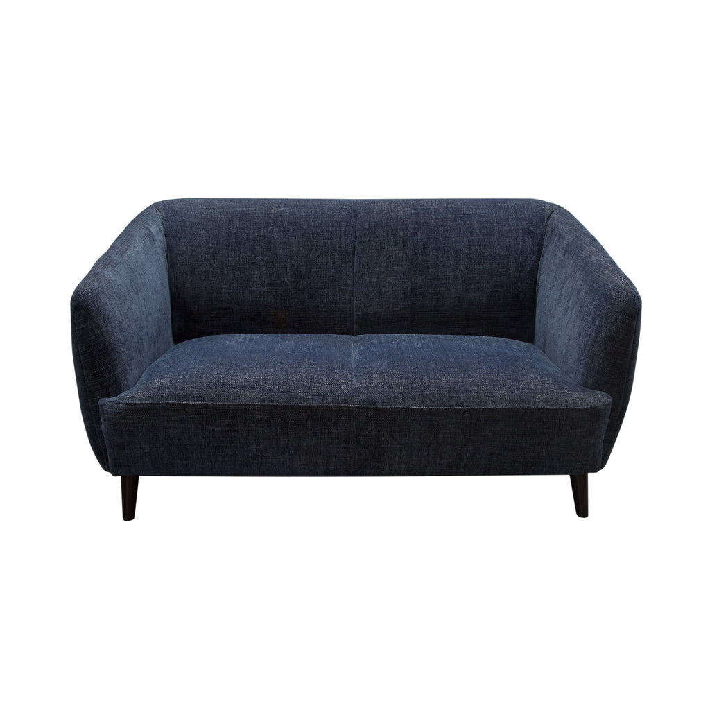 Diamond Sofa DELUCALOBU DeLuca Midnight Blue Fabric Loveseat