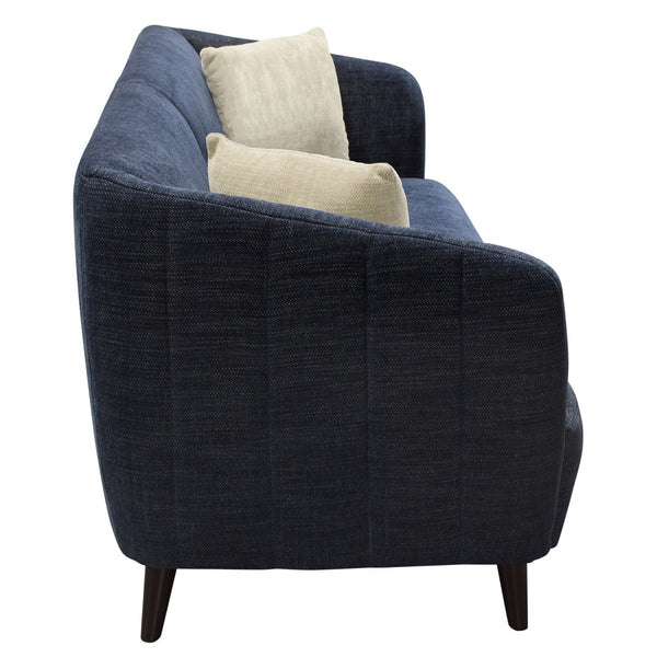 DeLuca Midnight Blue Fabric Loveseat