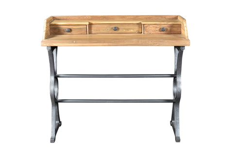 Moe's Home Collection DR-1287-37 Colt Industrial Teak Desk Natural