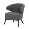 Delphine Club Chair Charcoal Fabric, Walnut
