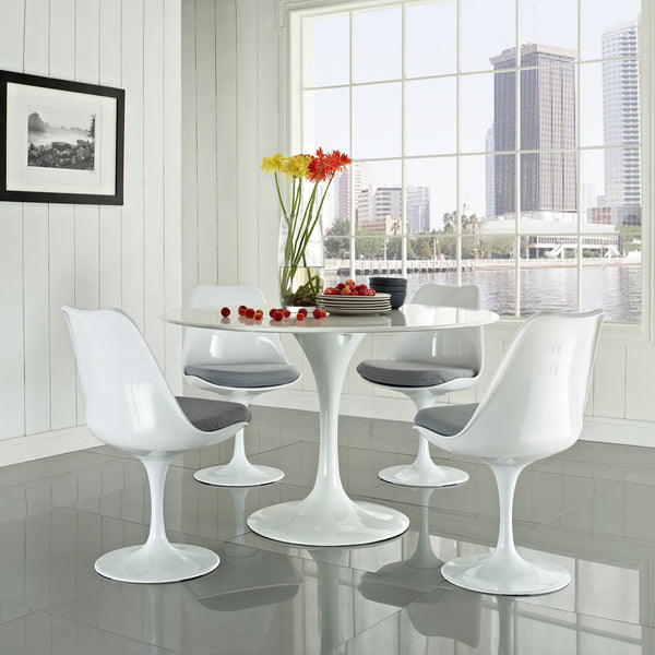 Eero Saarinen Style Tulip Dining Side Chair White | Modern Dining Chair by Modway at Contemporary Modern Furniture  Warehouse - 12