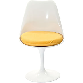 Dining Chairs - Modway EEI-115-YLW Lippa Fabric Dining Side Chair White | 848387015039 | Only $131.25. Buy today at http://www.contemporaryfurniturewarehouse.com