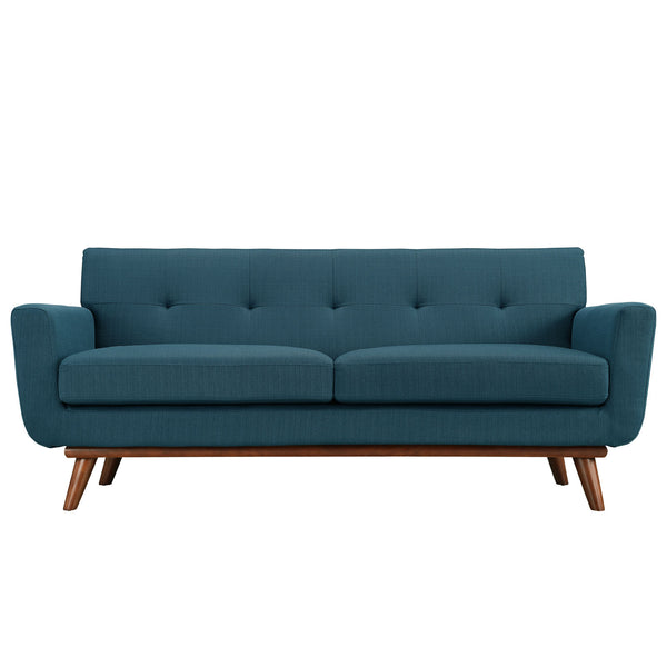 Loveseats - Modway EEI-1179-AZU Engage Mid Century Modern Upholstered Loveseat | 848387017477 | Only $767.00. Buy today at http://www.contemporaryfurniturewarehouse.com