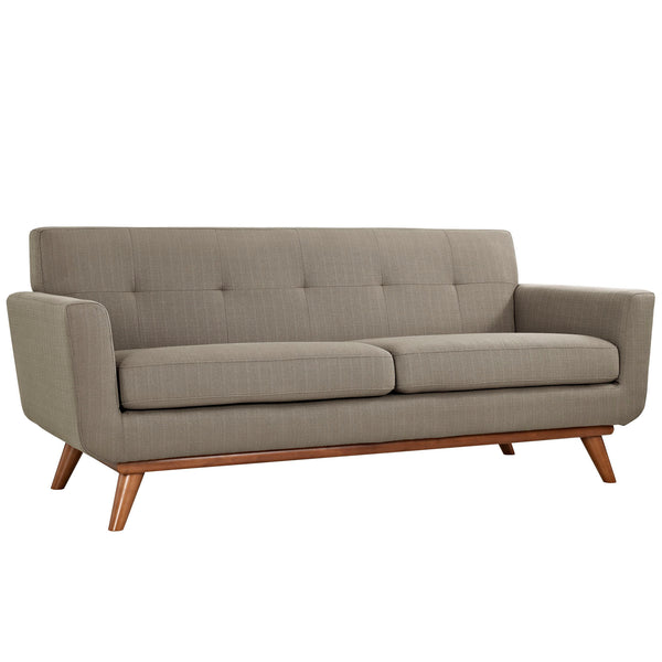 Loveseats - Modway EEI-1179-GRA Engage Mid Century Modern Upholstered Loveseat | 848387039066 | Only $767.00. Buy today at http://www.contemporaryfurniturewarehouse.com