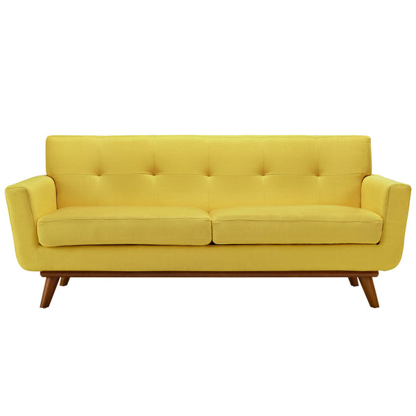 Loveseats - Modway EEI-1179-SUN Engage Mid Century Modern Upholstered Loveseat | 848387033224 | Only $767.00. Buy today at http://www.contemporaryfurniturewarehouse.com