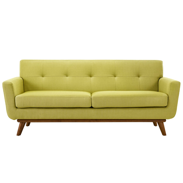 Loveseats - Modway EEI-1179-WHE Engage Mid Century Modern Upholstered Loveseat | 848387033231 | Only $767.00. Buy today at http://www.contemporaryfurniturewarehouse.com