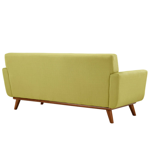Engage Mid Century Modern Fabric Loveseat