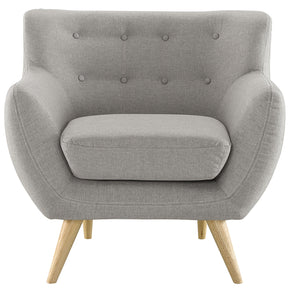 Armchairs - Modway EEI-1631-LGR Remark Mid Century Modern Upholstered Armchair | 848387058425 | Only $356.25. Buy today at http://www.contemporaryfurniturewarehouse.com