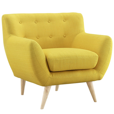 Buy Modway Remark Armchair in Sunny EEI-1631-SUN online. Best price. Free Shipping on all orders over $49.