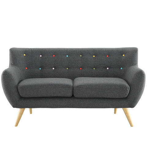 Remark Loveseat in Gray | Modern Loveseat by Modway at Contemporary Modern Furniture  Warehouse - 1