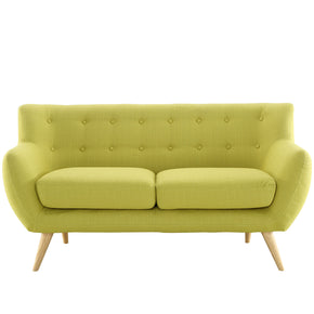 Loveseats - Modway EEI-1632-WHE Remark Mid Century Modern Upholstered Loveseat | 848387058500 | Only $548.50. Buy today at http://www.contemporaryfurniturewarehouse.com
