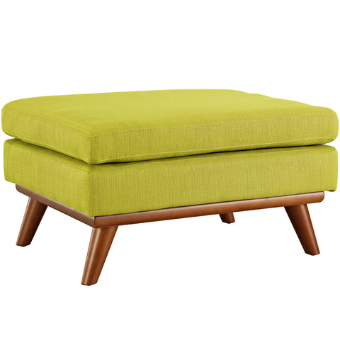 Modway EEI-1797-WHE Engage Upholstered Fabric Ottoman Wheatgrass