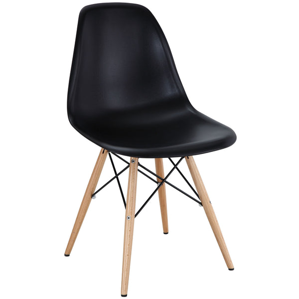 Dining Chairs - Modway EEI-180-BLK Pyramid Mid-Century Modern Dining Side Chair Molded ABS Plastic | 848387023218 | Only $62.50. Buy today at http://www.contemporaryfurniturewarehouse.com