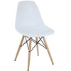 Dining Chairs - Modway EEI-180-WHI Pyramid Mid-Century Modern Dining Side Chair Molded ABS Plastic | 848387023270 | Only $76.30. Buy today at http://www.contemporaryfurniturewarehouse.com