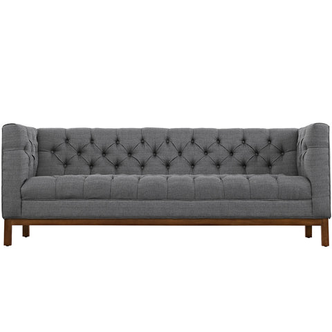 Panache Fabric Sofa Gray | Modern Sofa by Modway at Contemporary Modern Furniture  Warehouse - 1