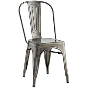 Dining Chairs - Modway EEI-2027-GME Promenade Modern Distressed Steel Dining Side Chair | 889654036081 | Only $66.25. Buy today at http://www.contemporaryfurniturewarehouse.com