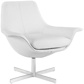 Modway EEI-2073-WHI Release Bonded Leather Lounge Chair White