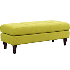 Benches - Modway EEI-2138-WHE Empress Mid-Century Modern Upholstered Fabric Bench | 889654040835 | Only $159.25. Buy today at http://www.contemporaryfurniturewarehouse.com