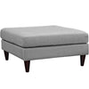 Ottomans - Modway Empress Upholstered Large Ottoman | EEI-2139-LGR | 889654040897| $210.50. Buy it today at www.contemporaryfurniturewarehouse.com