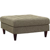 Ottomans - Modway Empress Upholstered Large Ottoman | EEI-2139-OAT | 889654040903| $210.50. Buy it today at www.contemporaryfurniturewarehouse.com