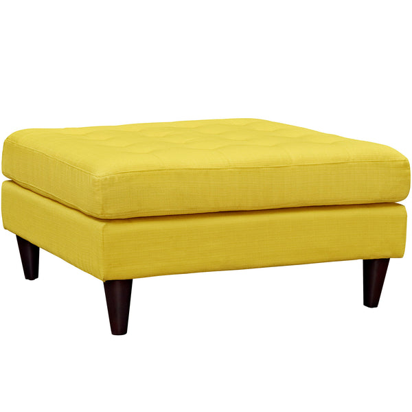 Ottomans - Modway Empress Upholstered Large Ottoman | EEI-2139-SUN | 889654040910| $210.50. Buy it today at www.contemporaryfurniturewarehouse.com