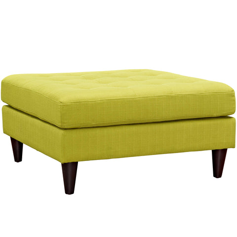 Modway EEI-2139-WHE Empress Upholstered Large Ottoman Wheatgrass