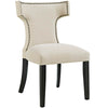 Dining Chairs - Modway EEI-2221-BEI Curve Fabric Dining Chair Studded Nailhead Trim | 889654065401 | Only $123.30. Buy today at http://www.contemporaryfurniturewarehouse.com