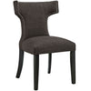Dining Chairs - Modway EEI-2221-BRN Curve Fabric Dining Chair Studded Nailhead Trim | 889654065418 | Only $123.30. Buy today at http://www.contemporaryfurniturewarehouse.com
