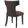 Curve Fabric Dining Chair Studded Nailhead Trim
