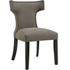 Modway EEI-2221-GRA Curve Fabric Dining Chair Granite