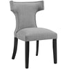 Dining Chairs - Modway EEI-2221-LGR Curve Fabric Dining Chair Studded Nailhead Trim | 889654065463 | Only $122.30. Buy today at http://www.contemporaryfurniturewarehouse.com
