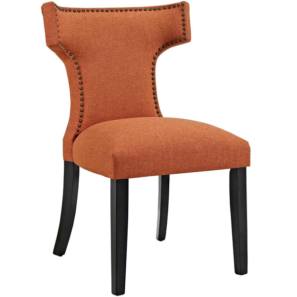 Dining Chairs - Modway EEI-2221-ORA Curve Fabric Dining Chair Studded Nailhead Trim | 889654065470 | Only $129.80. Buy today at http://www.contemporaryfurniturewarehouse.com
