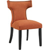 Modway EEI-2221-ORA Curve Fabric Dining Chair Orange