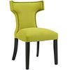 Dining Chairs - Modway EEI-2221-WHE Curve Fabric Dining Chair Studded Nailhead Trim | 889654065494 | Only $129.80. Buy today at http://www.contemporaryfurniturewarehouse.com