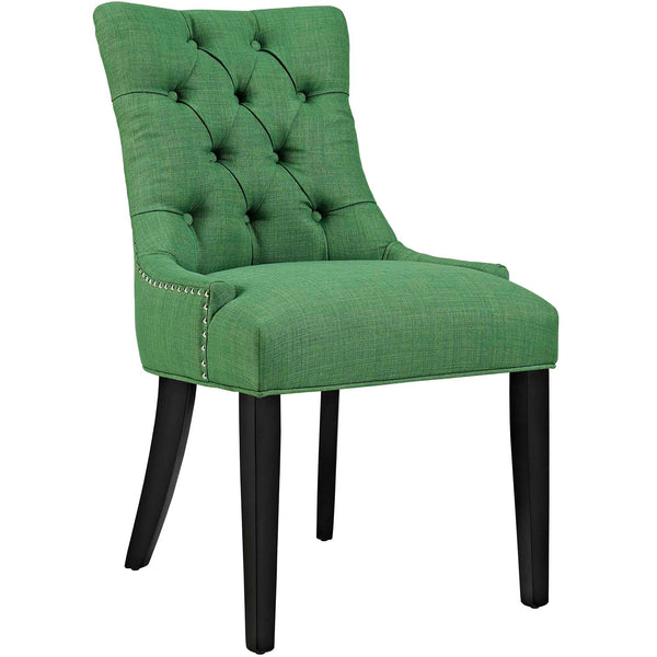 Dining Chairs - Modway EEI-2223-GRN Regent Fabric Dining Chair With Studded Nailhead Trim | 889654065562 | Only $118.50. Buy today at http://www.contemporaryfurniturewarehouse.com