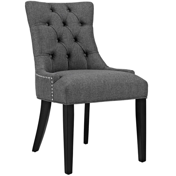 Dining Chairs - Modway EEI-2223-GRY Regent Fabric Dining Chair With Studded Nailhead Trim | 889654065579 | Only $118.50. Buy today at http://www.contemporaryfurniturewarehouse.com