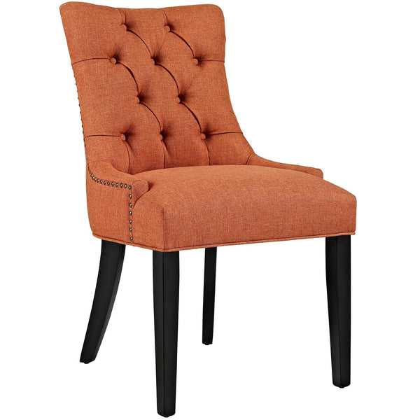 Dining Chairs - Modway EEI-2223-ORA Regent Fabric Dining Chair With Studded Nailhead Trim | 889654065609 | Only $118.50. Buy today at http://www.contemporaryfurniturewarehouse.com