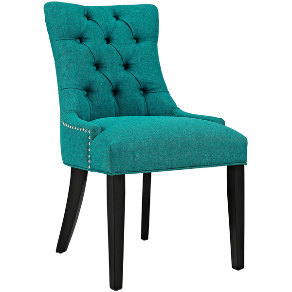 Dining Chairs - Modway EEI-2223-TEA Regent Fabric Dining Chair With Studded Nailhead Trim | 889654065616 | Only $118.50. Buy today at http://www.contemporaryfurniturewarehouse.com