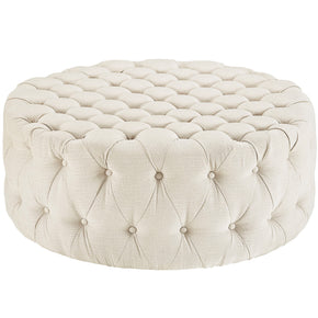 Modway EEI-2225-BEI Amour Upholstered Fabric Ottoman Beige