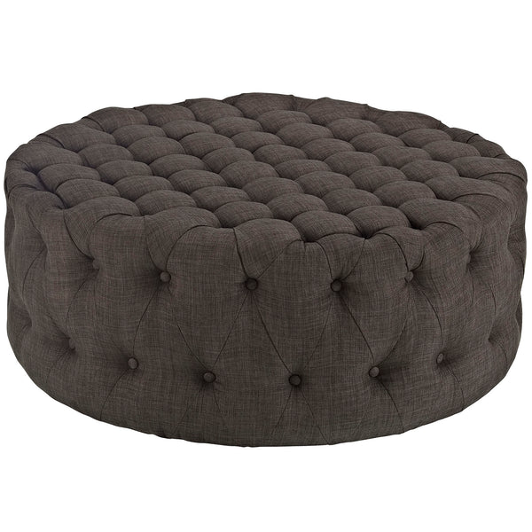 Modway EEI-2225-BRN Amour Upholstered Fabric Ottoman Brown