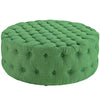 Modway EEI-2225-GRN Amour Upholstered Fabric Ottoman Kelly Green