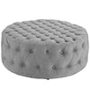 Modway EEI-2225-LGR Amour Upholstered Fabric Ottoman Light Gray