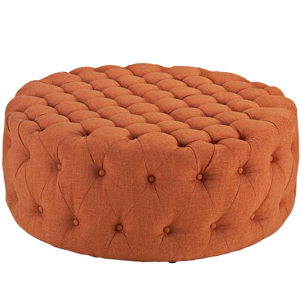 Modway EEI-2225-ORA Amour Upholstered Fabric Ottoman Orange