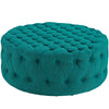 Ottomans - Modway EEI-2225-TEA Amour Large Round Upholstered Tufted Fabric Ottoman | 889654065777 | Only $297.50. Buy today at http://www.contemporaryfurniturewarehouse.com