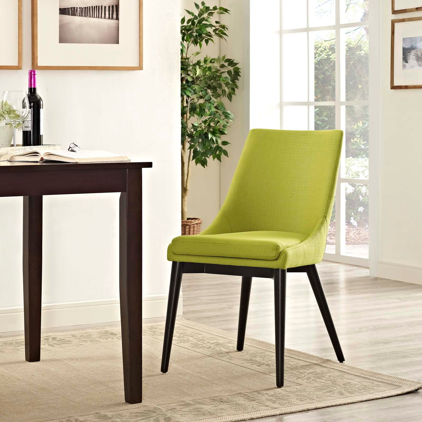 Modway Viscount Fabric Dining Chair Eei 2227 Brn Only