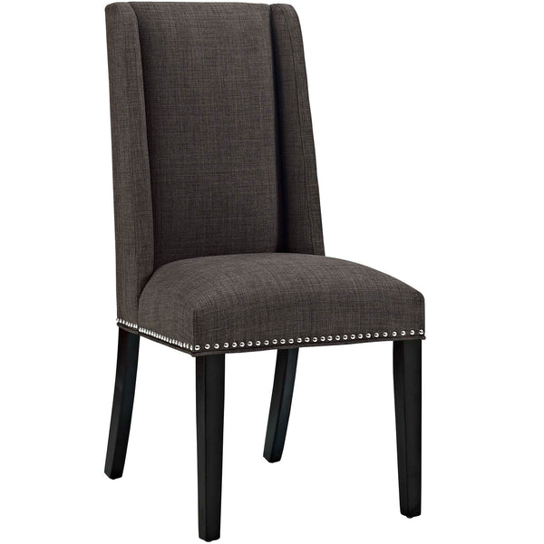 Dining Chairs - Modway EEI-2233-BRN Baron Fabric Dining Chair | 889654066224 | Only $95.25. Buy today at http://www.contemporaryfurniturewarehouse.com